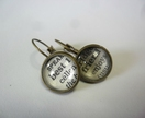 Best friends dictionary word glass dome earrings