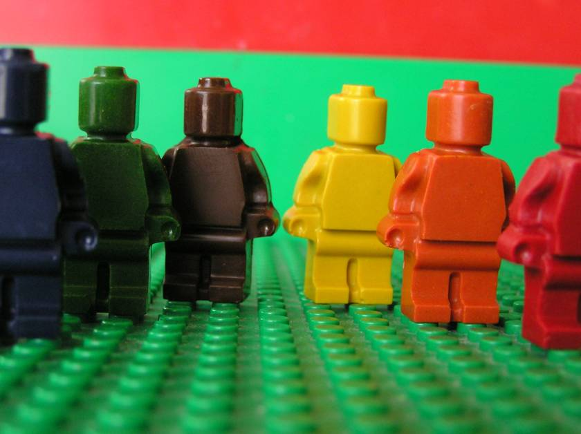 Minifigure Crayon Men (6 per packet) x 4 Packets