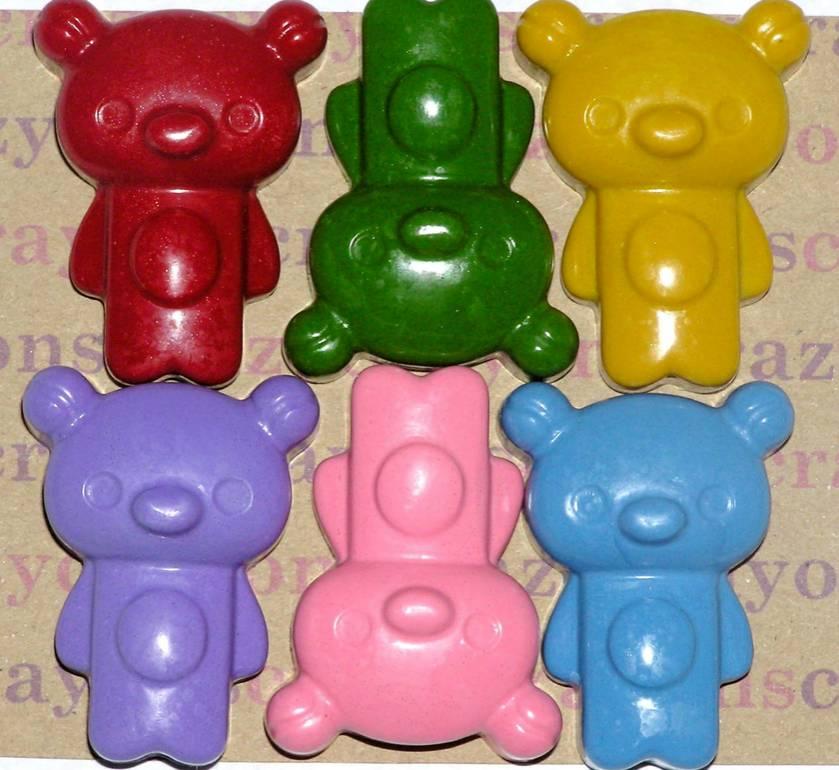 Teddy Bear Crayons (6 per packet)