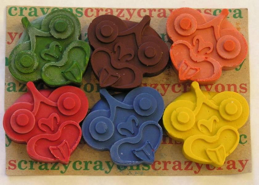 Tiki Crayons (Packet of 6)