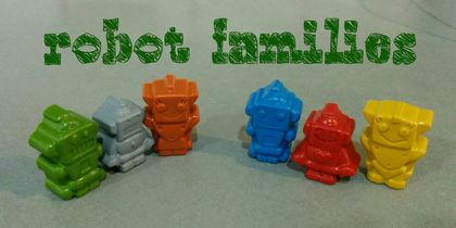 Robot Family Crayons (6 per packet)
