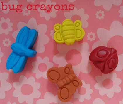 Bug Crayons (4 per packet)
