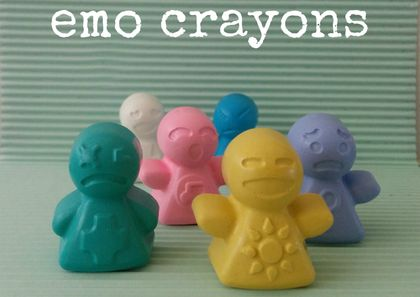 Emo Crayons (6 per packet)