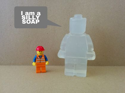 SILLY SOAP - Minifig Glycerin Soap (Colour and fragrance-free)