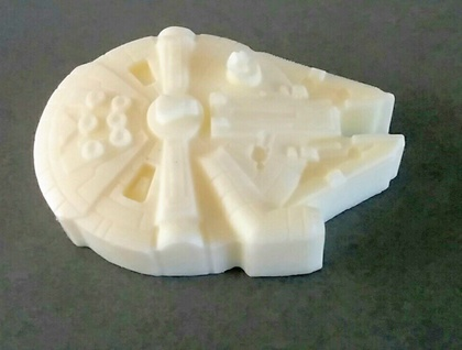 SILLY SOAP - Millenium Falcon Goats Milk Soap (fragrance free)