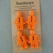 Minifigure Fimo Buttons (4 per packet) - Orange