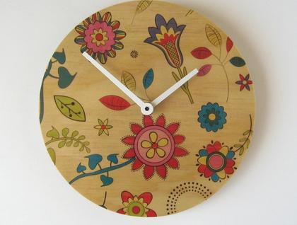 Objectify Flowery Wall Clock
