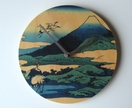"Objectify ""Cranes Nearby Mt Fuji"" Wall Clock"