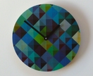 Objectify Grid2 Blue Wall Clock