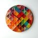 Objectify Grid2 with Numerals Wall Clock - Medium Size