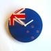 """Objectify """"Off Key"""" NZ Flag Wall Clock"""