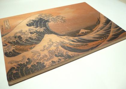 "Objectify ""Great Wave off Kanagawa"" Printed Serving Platter and Cutting Board"