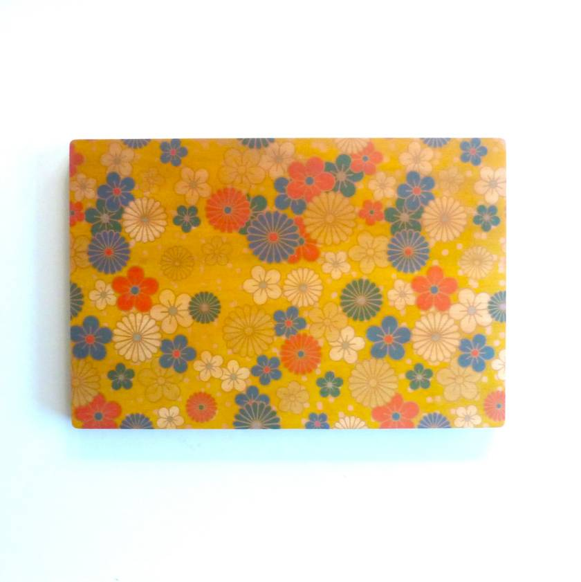 Objectify Nippon Flowers Printed Serving Platter and Cutting Board