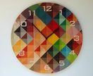 Objectify Grid2 with Numerals Wall Clock - Large Size
