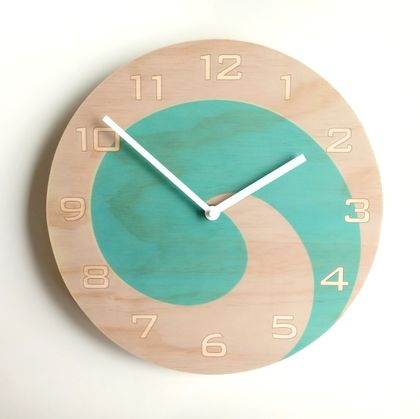 Objectify Koru with Numerals Wall Clock - Medium Size