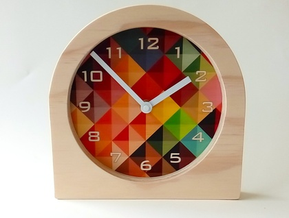 Objectify Grid2 with Numerals Desk Clock