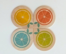 Objectify Fruity Coasters - Set of 4