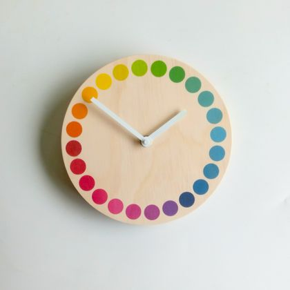 Objectify Rainbow Dots Wall Clock