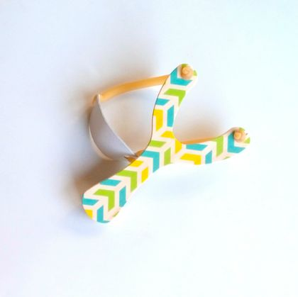 Objectify Inverted Chevron Print Wooden Slingshot