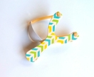 Objectify Inverted Chevron Print Wooden Slingshot x 3