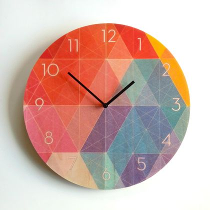Objectify Nazca with Numerals Wall Clock - Large Size