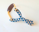 Objectify Blue Triangle Print Wooden Slingshot