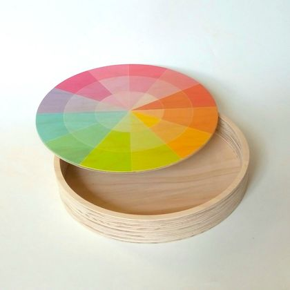 Objectify Color Swatch Printed Keepsake Plywood Box