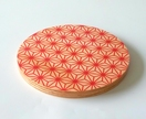 "Objectify Small  ""Red Pattern"" Printed Serving Platter and Cutting Board"