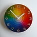 Objectify Colour Wheel With Numerals Wall Clock - Medium Size