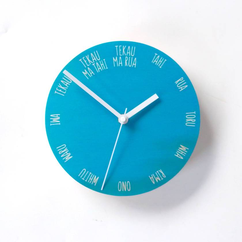 Objectify Tahi Rua Toru Wall Clock