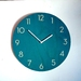 Objectify Mid Teal Neutra Numerals Wall Clock - Medium Size