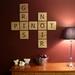 Scrabble Art wall tiles