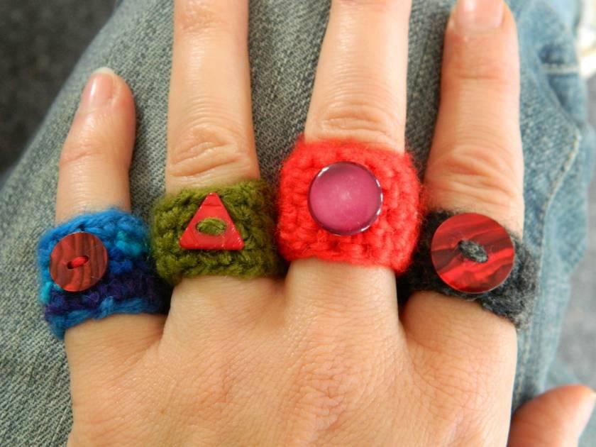 WINTER SALE - Crochet Rings