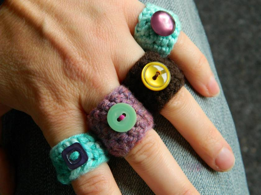WINTER SALE - Crochet Rings