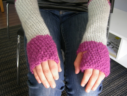 WINTER SALE - Crocheted Arm Warmer