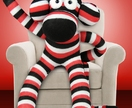 Sock Monkey - Fuzzy Hammer