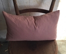 Dusky pink linen cushion