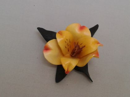 SALE -Yellow Lily Brooch