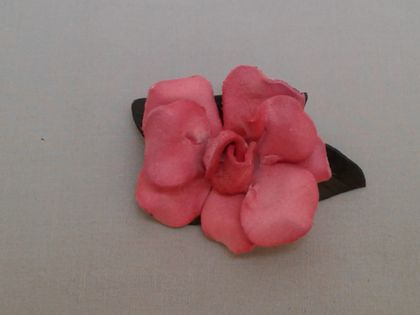 SALE -Pink Rose Brooch
