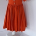 Vintage Style Cotton/Linen Front Buttoning Dress in Burnt Orange- Age/Size 4,6,8