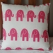 PINK ELEPHANT CUSHION COVER