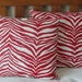 RED & WHITE ANIMAL PRINT CUSHION COVER **SALE**