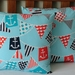 AHOY MATEY BUNTING CUSHION COVER