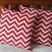 ZIGZAG RED CUSHION COVER