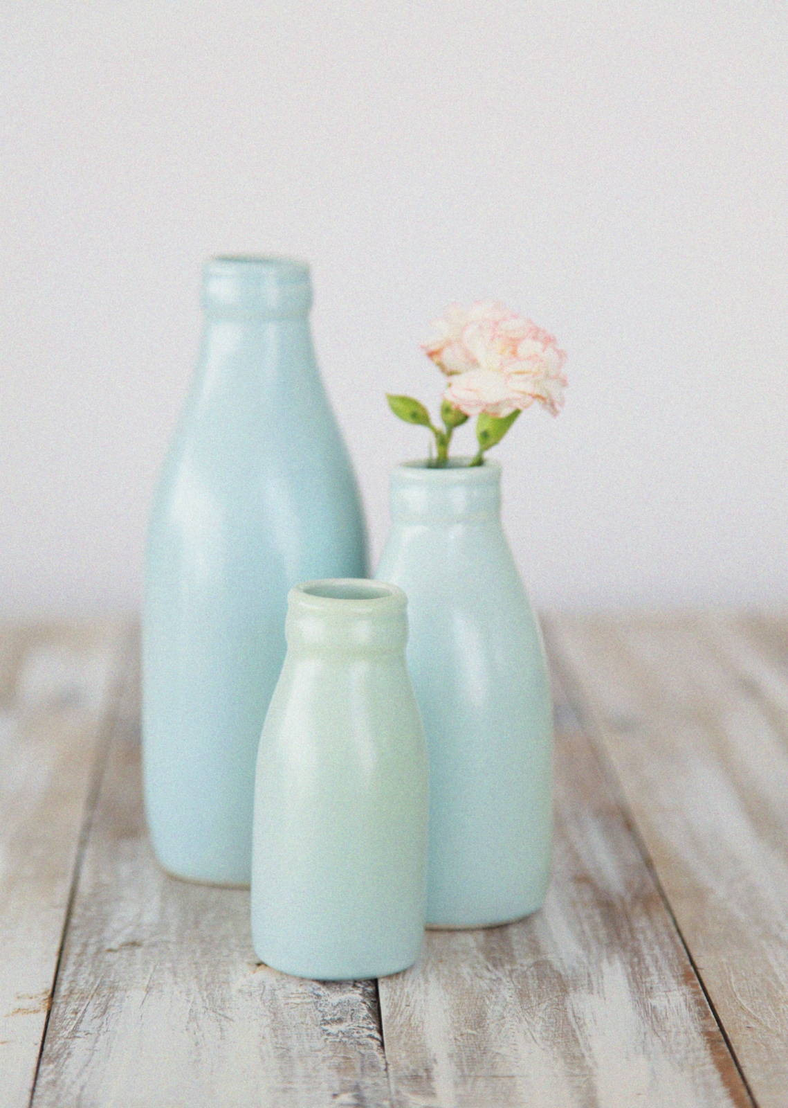 Duck Egg Blue Glass Bottles