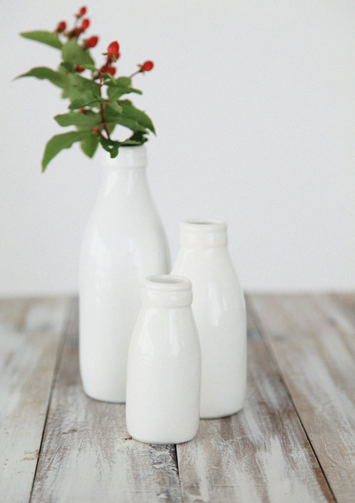 Set of 3 milk bottle vases gloss white felt set of 3 milk bottle vases gloss white reviewsmspy