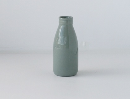 Medium Grey Milk Bottle Vase