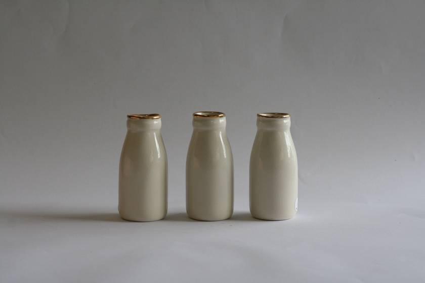 Gold Top Bottle Vase