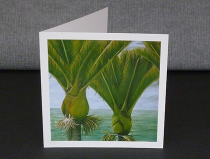 Gift card- Two Nikau, New Zealand Nikau Palm Tree