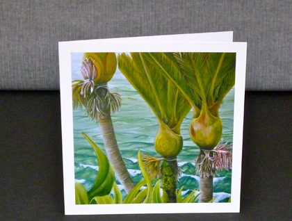 Gift card- Three Nikau, New Zealand Nikau Palm Tree